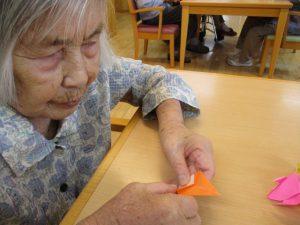 折り紙金魚と千秋楽